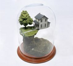 Worlds Under Glass by Thomas Doyle #doyle #house #world #thomas #art #miniature