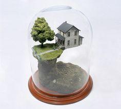 Worlds Under Glass by Thomas Doyle #doyle #house #world #thomas #art #miniature
