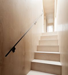 Plywood House by Simon Astridge. #plywood #simonastridge #stairway #minimal