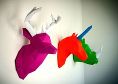 3d Papercraft for Your Home by Holger Hoffmann hunting trophies eco friendly paper 2 #decor #sculptures #papercraft #paper #3d