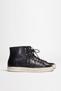 Buttero Tanino High Leather Black | TRÈS BIEN #shoes #italian #sneakers #leather #buttero