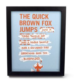 Fancy The Quick Brown Fox Has Minor Changes #cute #illustration