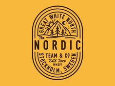 #badge #logo #nordic #line #mountains #typography