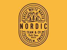 #badge #logo #nordic #line #mountains #typography