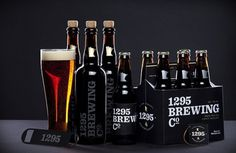 1295 Brewing Co. on the Behance Network #design #package