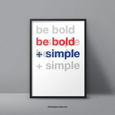 be #bold and #simple #poster #design #advice  www.apapez.com
