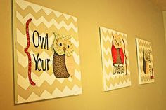 #owl #design #diy #wall #hang #bird #craft #decor #art #fabric