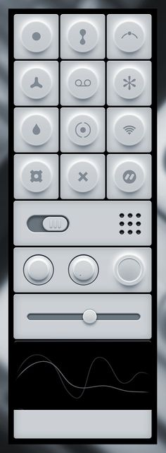 white beautiful buttons interface #white #interface #buttons