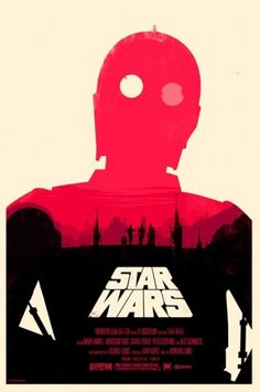 British Artist Redesigns 'Star Wars' Posters - DesignTAXI.com #star #c3po #wars #poster