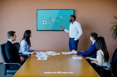 Business meeting with tv mockup Free Psd. See more inspiration related to Mockup, Business, Technology, Man, Presentation, Meeting, Tv, Elegant, Present, Businessman, Mock up, Success, Business man, Modern, Show, Television, Display, Business meeting, Screen, Up, Successful, Mock, Presenting and Showing on Freepik.