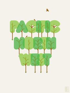this isn't happiness™ Peteski #trees #typography