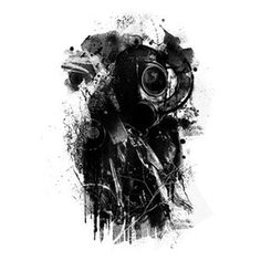 Black gasmask #abstract #illustration #gasmask #art