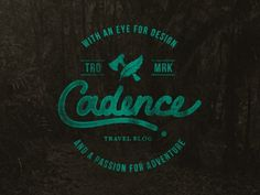 Cadence Logo #lettering #adventure #travel #feather #seal #vintage #axe #logo #hand