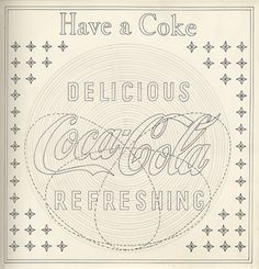 Creative Review - The making of a Coca-Cola neon sign, 1954 #signage