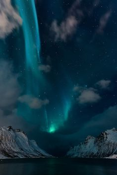 Photography inspiration #sky #northern #lights #landscape #stars #photography #mountains