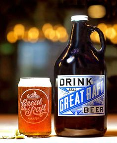 Great Raft Brewing Growler #packaging #beer #growler