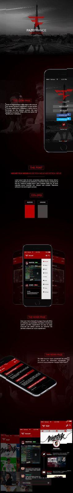 FaZe France – App Design by Lilian Racine