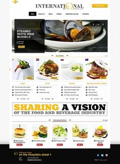 International restaurant on the Behance Network #international #food #restaurant #website #reservation #web