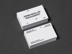 Bureau Collective – Jorma Mueller Photography #card #identity #business