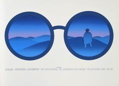 Folon Editions- Lahumiere #glasses #illustration #color #mountains