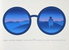 Folon Editions- Lahumiere #glasses #illustration #color #mountains