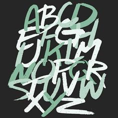 alphabet #lettering #hand-lettering #illustration #hand-lettered #brushstroke #type #typography