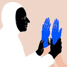 Blu #illustration #blue #drawing #hands