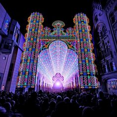 A Cathedral Made from 55,000 LED Lights | Colossal #photo #led #lights #cathedral
