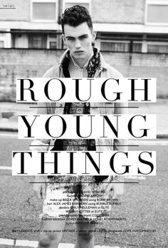 Rough Young Things Layout #fashion #photography #magazine #model #editorial #volt #voltcafe