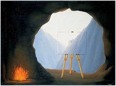 Magritte, Cave, Painting, reality