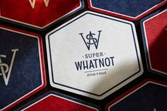 design work life » cataloging inspiration daily #white #red #superwhatnot #blue #coaster #typography