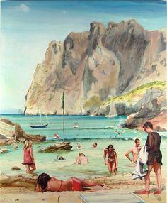 Adam de Boer - Cala San Viçens #painting #art