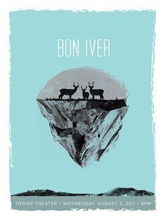 GigPosters.com - Bon Iver #gig #poster
