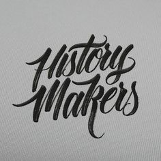 Typeverything.comHistory Makers by hand type.