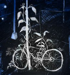 rpeli #dark #illustration #white #bike