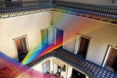 Como, Italy and Agora exhibition with Gabriel Dawe art installation #exhibition #textile #art #installation