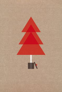 Cadena de Felicidad Temas mariadiamantes #tree #design #geometric #christmas #illustration #poster #postcard