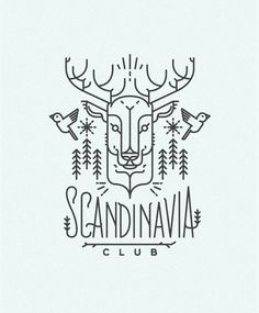 Scandinavia club illustration #illustration #design #art #line #drawing #scandinavia