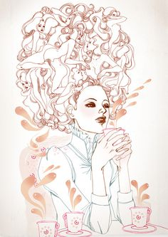 Romantic & Fantastic #girl #illustration #marguerite #fashion #sauvage