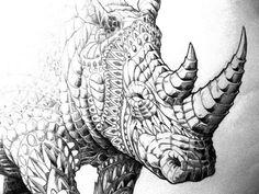 Decorated animals by http://www.bioworkz.com/ #illustration