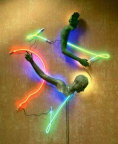 L E G I T E R A L L Y: Neon Lights #sculpture #neon #kraft #craig a