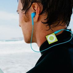 Waterfi Waterproof Short Cord Headphones #tech #flow #gadget #gift #ideas #cool