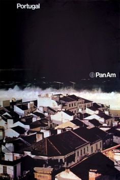 1971 Pan Am Posters | Minimalissimo #travel #portugal #posters #pan #helvetica #am