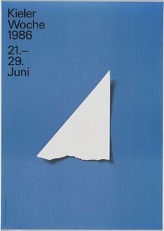 MoMA | The Collection | Pierre Mendell. Kieler Woche 1986. 1986 #pierremendell #poster #typography