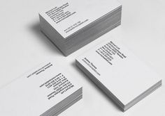 Inhouse #white #branding #edges #black #identity #cards