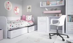 Kolekcja Lilo to meble przeznaczone do pokoju dziecięcego. Urzeka spokojem i subtelnością. Ciekawym urozmaiceniem mebli są uchwytu w dwóch kolorach: różowym oraz niebieskim.