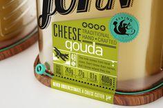 Captain John packaging by Galya Akhmetzyanova & Pavla Chuykina branding #design #cheese