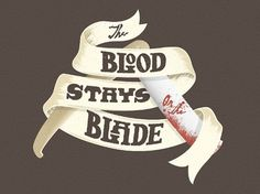 Six Word Story Every Day #blood #razor #blade #typography