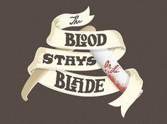 Six Word Story Every Day #typography #blood #razor blade