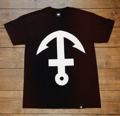 WLDWLVS — Inverted Anchor Cross Tee #aberdeen #wldwlvs #design #black #tee #art #scotland #logo #anchor #awesome